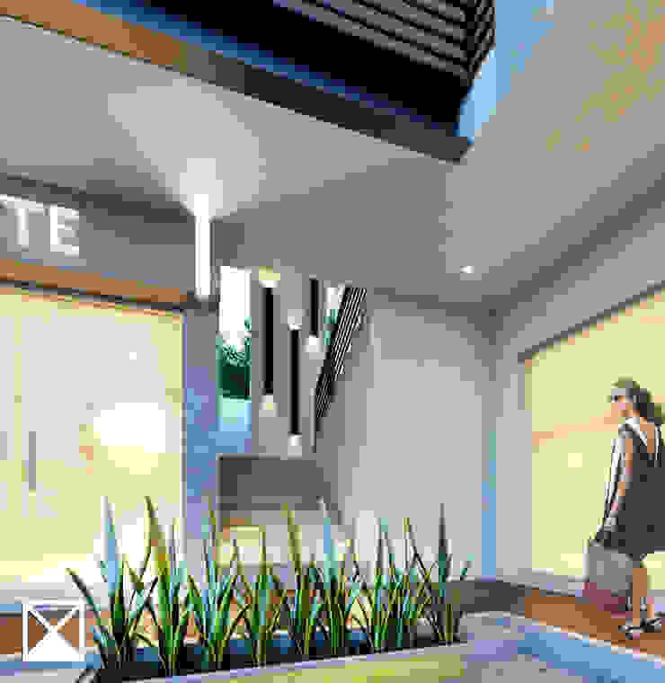 ANGOLO-grado arquitectónico Modern Corridor, Hallway and Staircase Ceramic