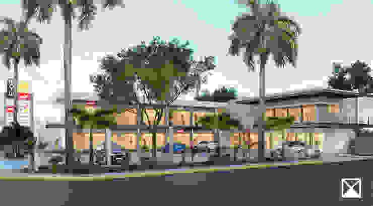 Tropical style garden by ANGOLO-grado arquitectónico Tropical