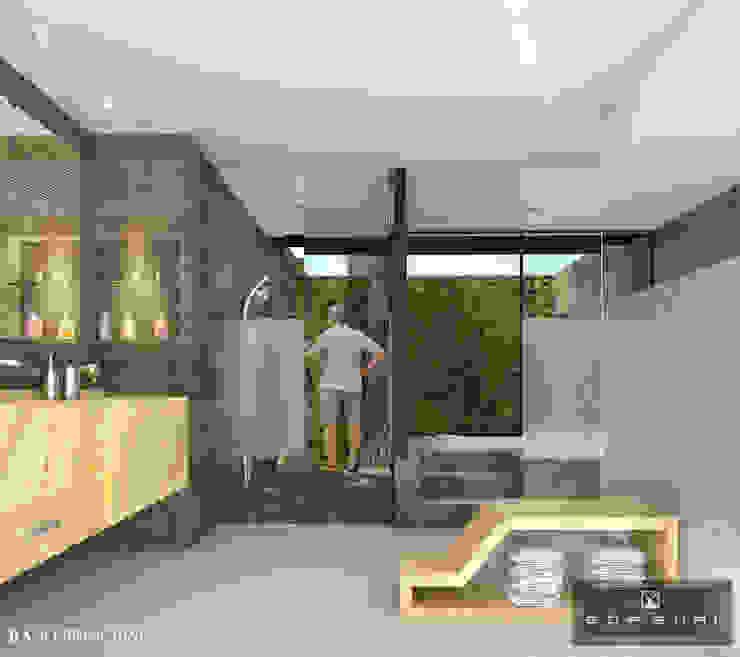 BAÑO PRINCIPAL Baños modernos de ANGOLO-grado arquitectónico Moderno Cerámico