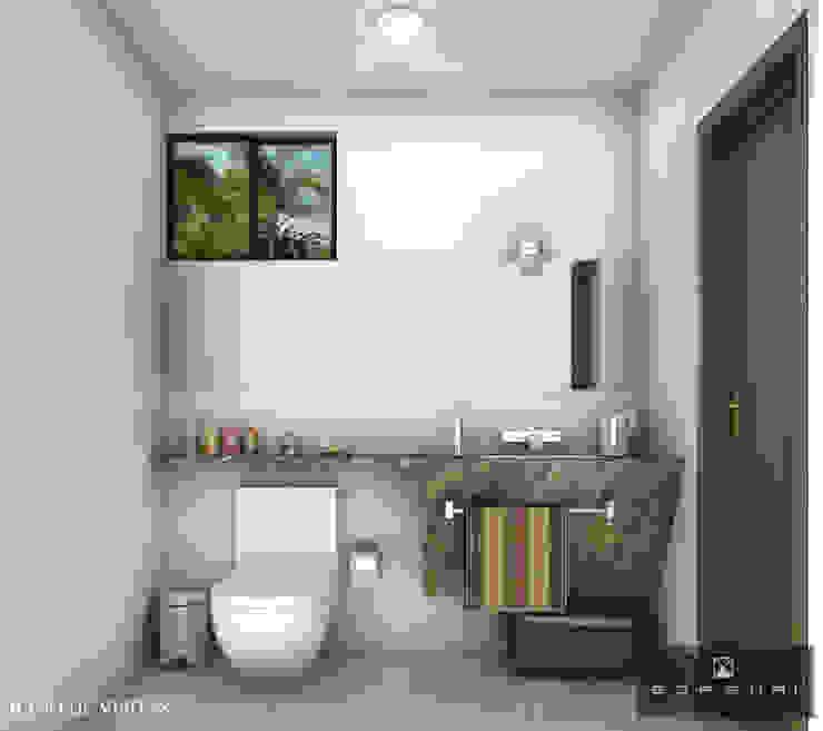 BAÑO DE VISITAS Baños de estilo moderno de ANGOLO-grado arquitectónico Moderno