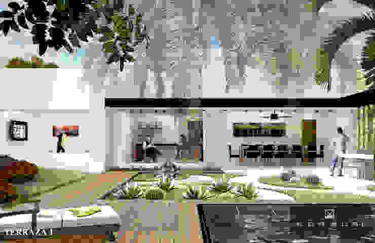 SALA DE T.V Y BAR Salones modernos de ANGOLO-grado arquitectónico Moderno
