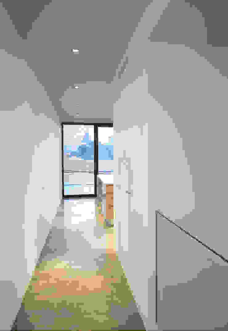 Casa de Moleiros Corredores, halls e escadas modernos por GRAU.ZERO Arquitectura Moderno Vidro