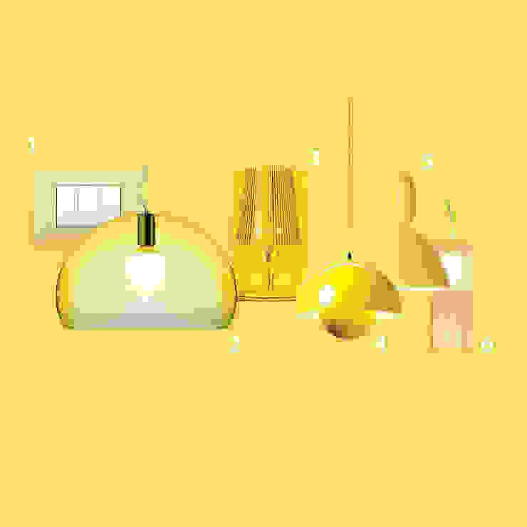 Iluminación decorativa de GEO Iluminación Aplicada Moderno Sintético Marrón