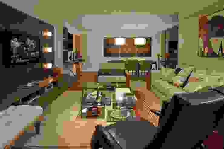 Sala de Estar/ Jantar Salas de estar rústicas por CR Arquitetura Rústico