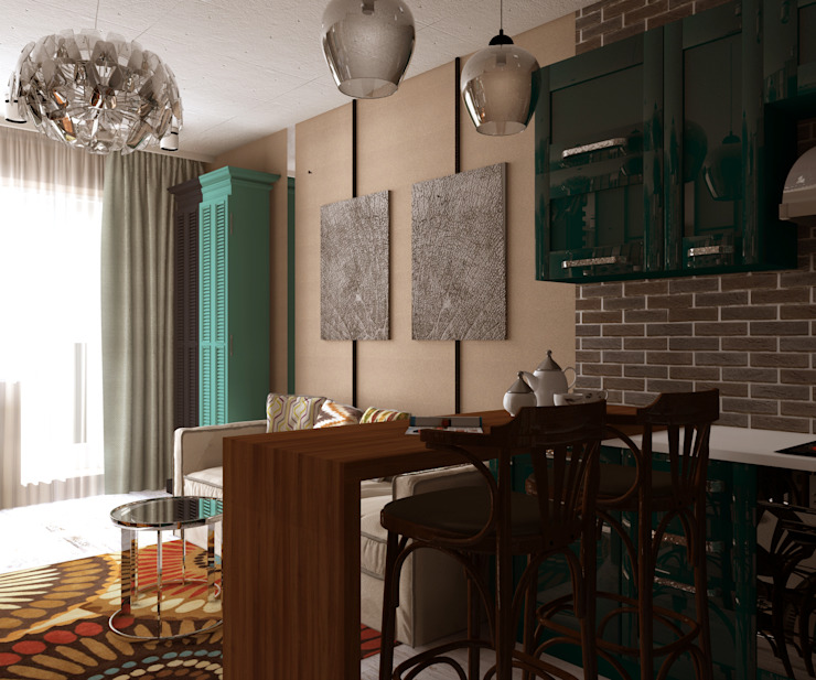 Клуб одиноких сердец Гостиная в стиле модерн от Interika Модерн