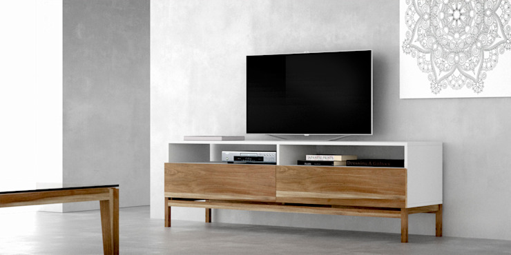 modern  by Forma muebles, Modern Solid Wood Multicolored