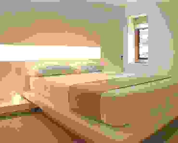 Lymm Water Tower Modern Bedroom by Kate and Sam Lighting Designers Modern