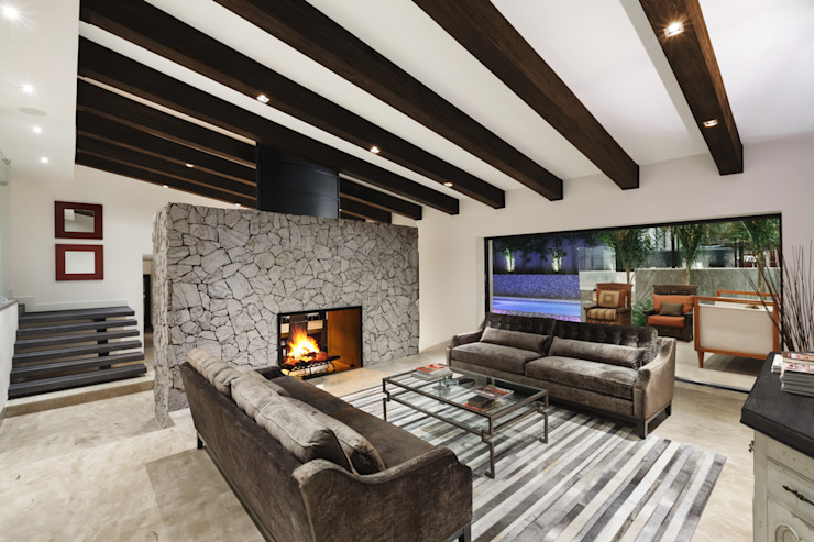 Sala Salas de estilo moderno de Juan Luis Fernández Arquitecto Moderno