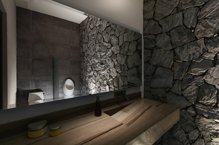 Baño Exterior Baños de estilo moderno de Juan Luis Fernández Arquitecto Moderno