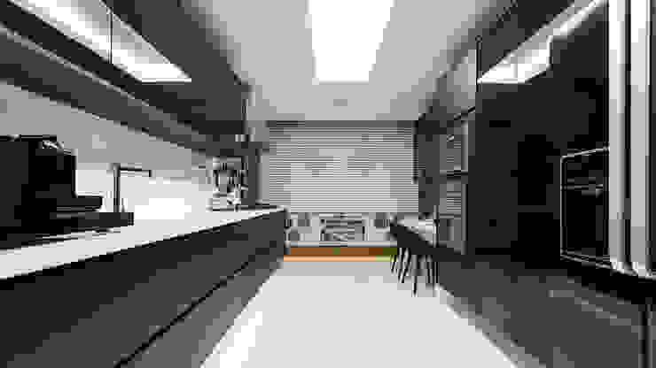 現代  by Flavio Moura Arquitetura, 現代風