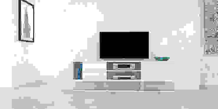 Mueble para TV de Forma muebles Moderno Derivados de madera Transparente