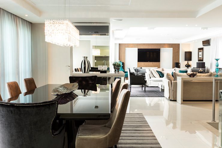 Apartamento Beiramar FL-2 Salas de jantar modernas por KARINA KOETZLER arquitetura e interiores Moderno