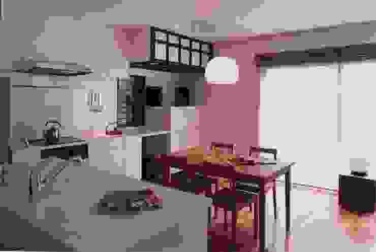 有限会社加々美明建築設計室 ห้องทานข้าว ปอหรือป่าน White