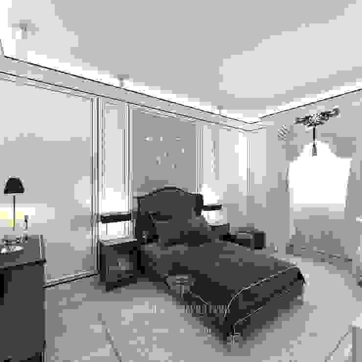 ДИЗАЙН ДОМА С МАНСАРДОЙ (90 ФОТО) Спальня в стиле модерн от Студия дизайна интерьера Руслана и Марии Грин Модерн
