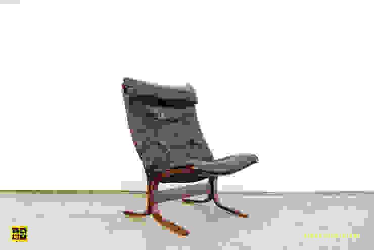 Siësta easy chair by Ingmar Relling / Westnofa / Norwegian / 70's van De gele etalage Scandinavisch Leer Grijs