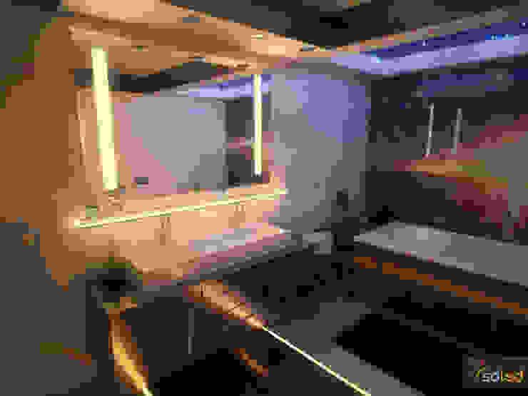 Lustra LED Pattern Light marki Soleda Mirror – na wymiar od SOLED Projekty i Dekoracje Świetlne Jacek Solka Nowoczesny
