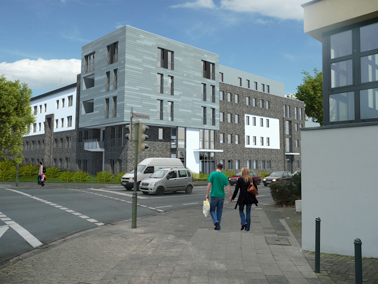 Casas de estilo minimalista de Gritzmann Architekten Minimalista