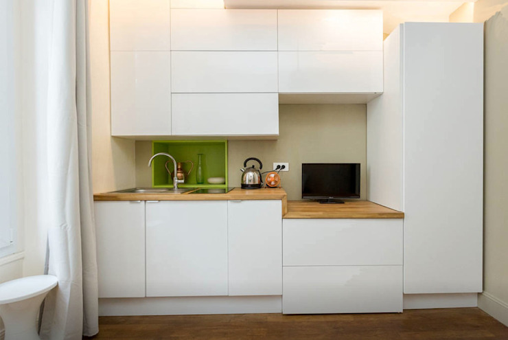 Découverte d'une petite surface de 12 m² parfaitement optimisée et ultra confort par Zahara Dabo Architecture d'Intérieur Moderne