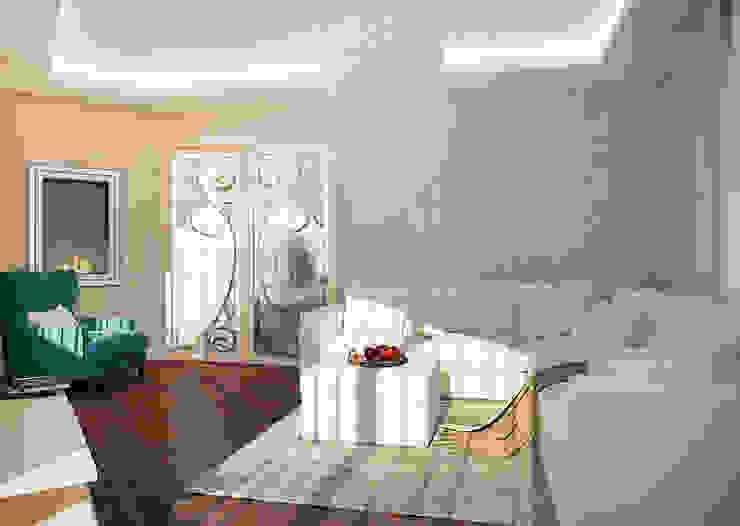 Salas de estar clássicas por Виталия Бабаева и Дарья Дикая Clássico