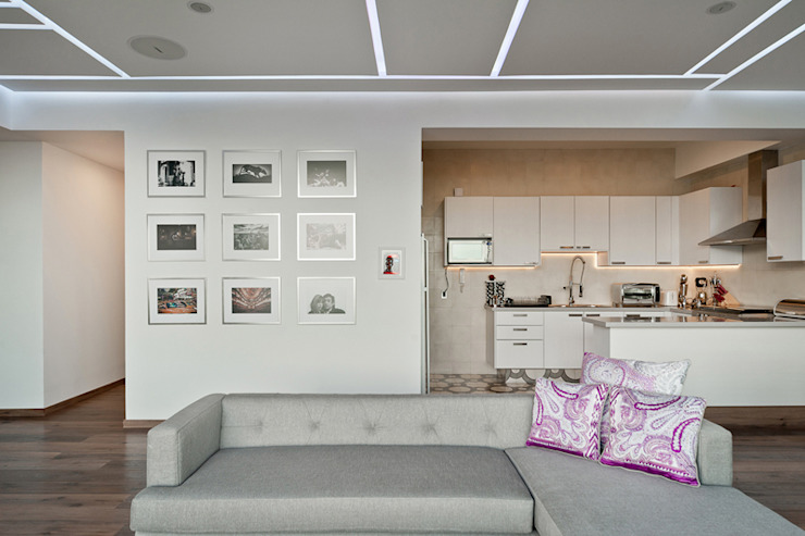 DEPARTAMENTO EN CUERNAVACA Salones modernos de HO arquitectura de interiores Moderno
