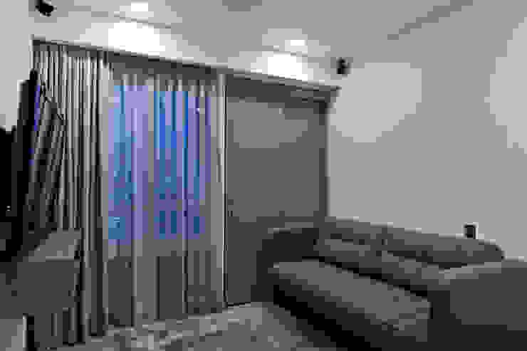 DEPARTAMENTO EN CUERNAVACA: Salas multimedia de estilo  por HO arquitectura de interiores