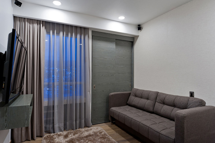 Медиа комнаты в . Автор – HO arquitectura de interiores, Модерн