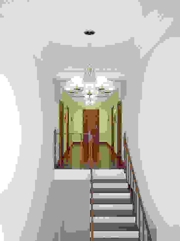 Коттедж в Троицке Коридор, прихожая и лестница в классическом стиле от Симуков Святослав частный дизайнер интерьера Классический
