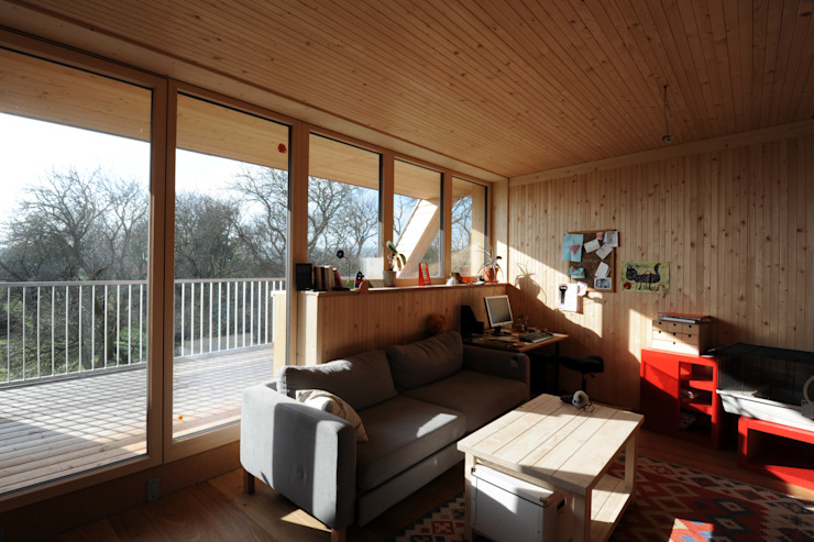Symbios Architektur Modern Living Room Wood