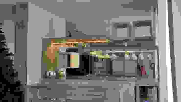 Barra de bar, con copero de HO arquitectura de interiores Moderno