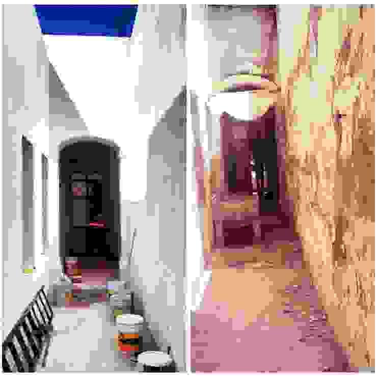 RESTAURACION CA-308 Pasillos, vestíbulos y escaleras coloniales de TA111ER Colonial Ladrillos