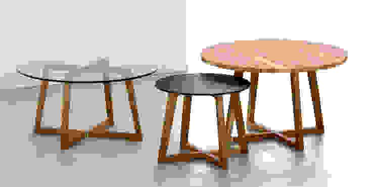Mesas ratonas rendondas de Forma muebles Moderno Madera maciza Multicolor