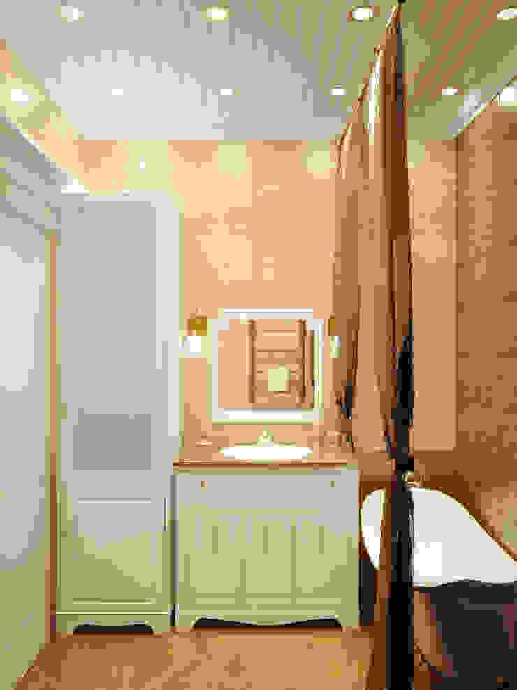 Квартира в городе Королев Ванная комната в стиле кантри от Симуков Святослав частный дизайнер интерьера Кантри