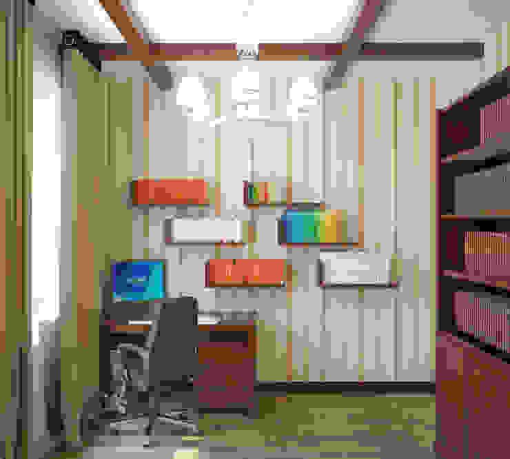 Квартира в городе Королев Рабочий кабинет в стиле кантри от Симуков Святослав частный дизайнер интерьера Кантри