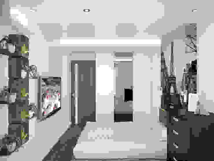Квартира в Перово Спальня в стиле минимализм от Симуков Святослав частный дизайнер интерьера Минимализм