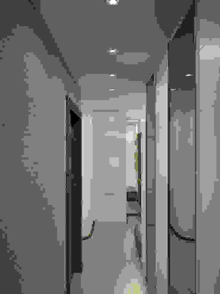 Квартира в Перово Коридор, прихожая и лестница в стиле минимализм от Симуков Святослав частный дизайнер интерьера Минимализм