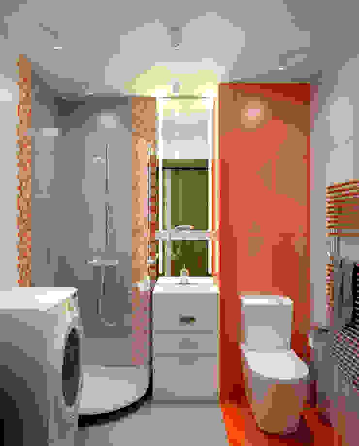 Квартира в Перово Ванная комната в стиле минимализм от Симуков Святослав частный дизайнер интерьера Минимализм