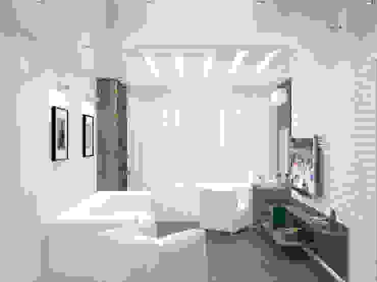 Квартира в Перово Гостиная в стиле минимализм от Симуков Святослав частный дизайнер интерьера Минимализм
