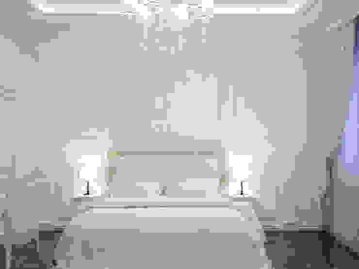 Симуков Святослав частный дизайнер интерьера Camera da letto in stile classico Bianco
