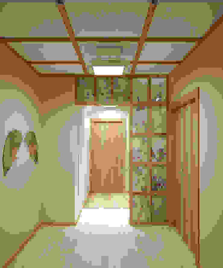 Квартира на Таганке Коридор, прихожая и лестница в азиатском стиле от Симуков Святослав частный дизайнер интерьера Азиатский