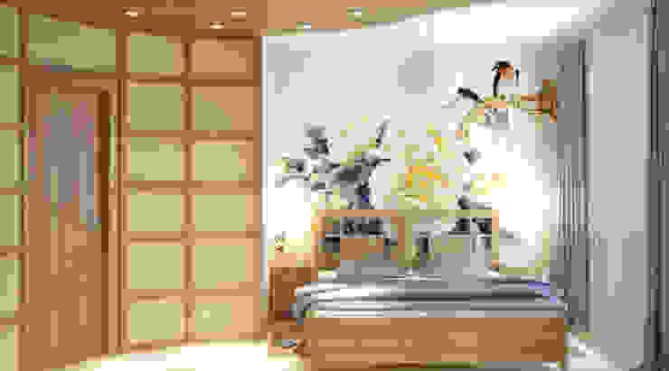 아시아스타일 침실 by Симуков Святослав частный дизайнер интерьера 한옥