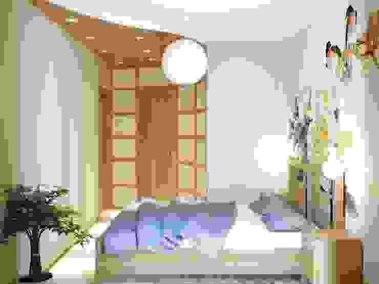 Квартира на Таганке Спальня в азиатском стиле от Симуков Святослав частный дизайнер интерьера Азиатский