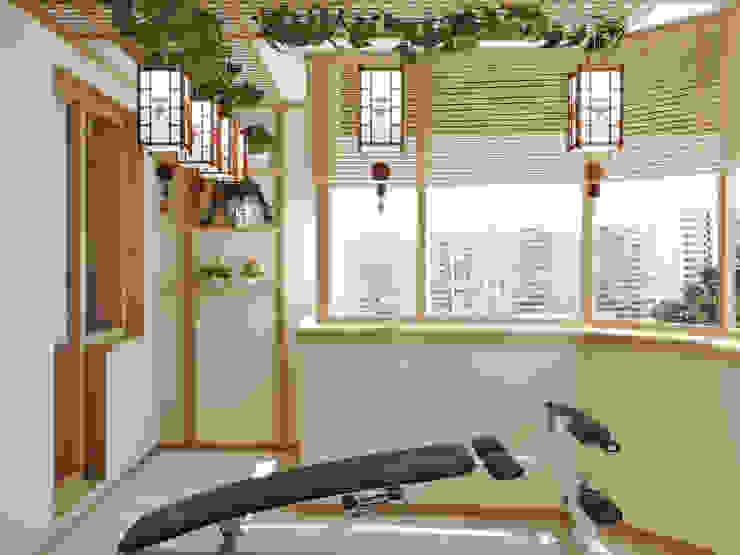 Квартира на Таганке Балкон и терраса в азиатском стиле от Симуков Святослав частный дизайнер интерьера Азиатский