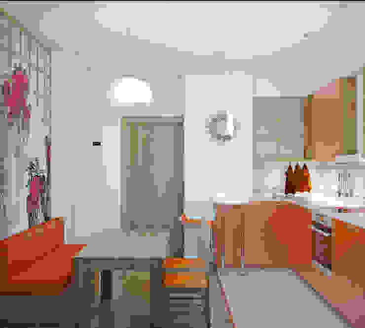 Квартира на Таганке Кухня в азиатском стиле от Симуков Святослав частный дизайнер интерьера Азиатский