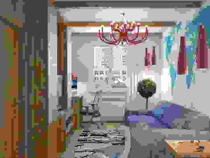 Квартира на Таганке Гостиная в скандинавском стиле от Симуков Святослав частный дизайнер интерьера Скандинавский
