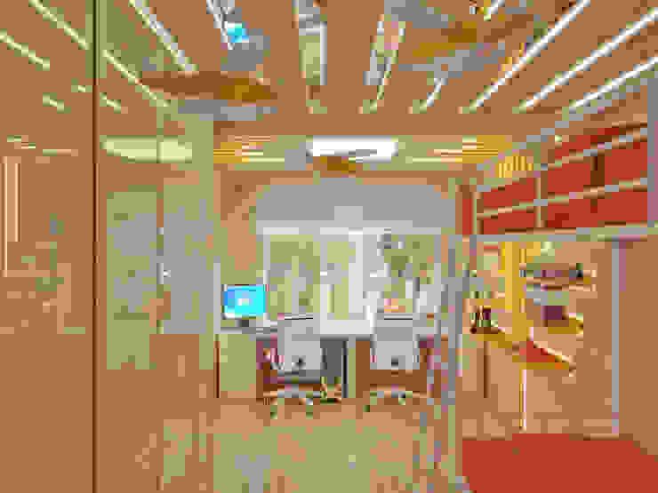 Квартира на улице Нахимова: Детские комнаты в . Автор – Симуков Святослав частный дизайнер интерьера, Средиземноморский