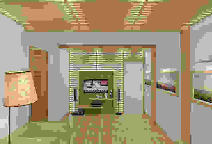 Phòng khách phong cách Địa Trung Hải bởi Симуков Святослав частный дизайнер интерьера Địa Trung Hải