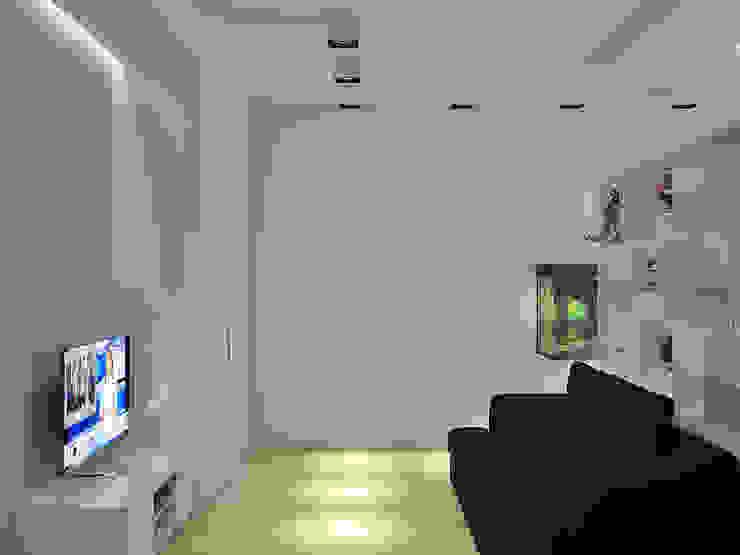 Квартира на Филевском бульваре Гостиная в стиле минимализм от Симуков Святослав частный дизайнер интерьера Минимализм