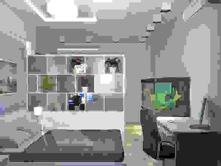 Квартира на Филевском бульваре Спальня в стиле минимализм от Симуков Святослав частный дизайнер интерьера Минимализм