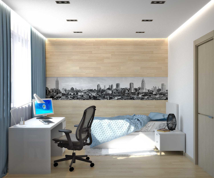 Chambre d'enfant minimaliste par Симуков Святослав частный дизайнер интерьера Minimaliste