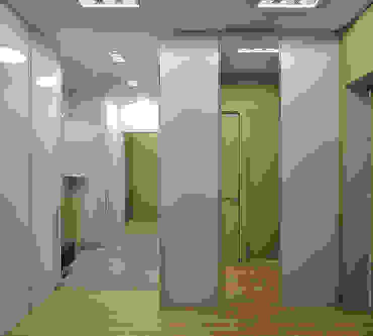 Квартира на Филевском бульваре Коридор, прихожая и лестница в стиле минимализм от Симуков Святослав частный дизайнер интерьера Минимализм